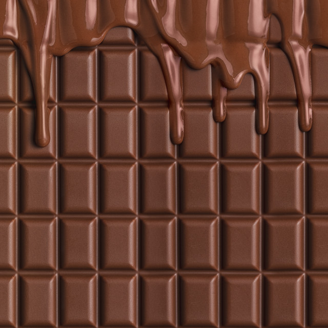 """""""Milk chocolate bar background. Melted chocolate dripping. Pastry ingredient"""" stock image"""