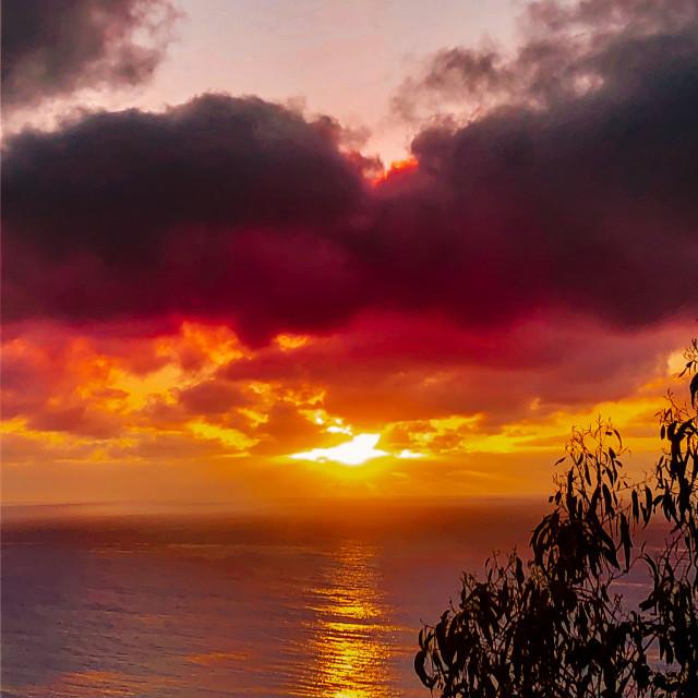 """""""Sunset over Kennett Rivet"""" stock image"""