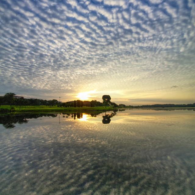 """Sunrise Reflections II"" stock image"