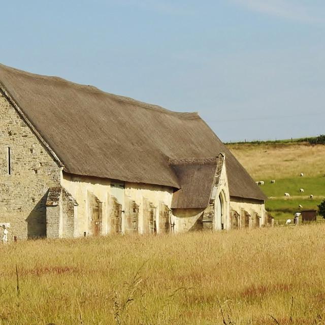 """The Tithe Barn."" stock image"
