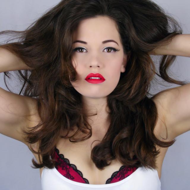 """Hair & Makeup : Luscious Locks"" stock image"