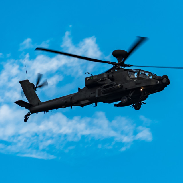 """""""Apache Helicopter Flypast"""" stock image"""