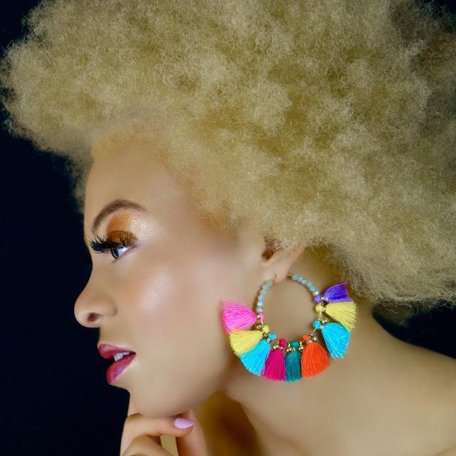 """Celebrate The Afro : Albino Blonde"" stock image"