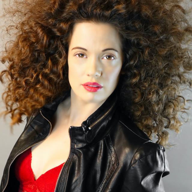 """Big Beautiful Curls : Hair-splay"" stock image"