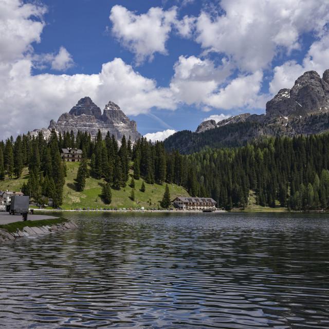 """Lake Misurina"" stock image"