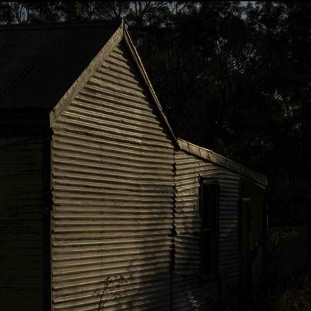 """Galvenised House"" stock image"