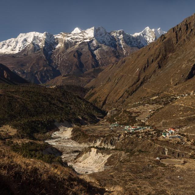 """Dudh Koshi Valley in the Khumbu Region"" stock image"