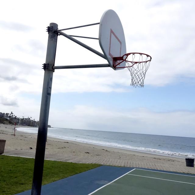"""Laguna Beach basketball court"" stock image"
