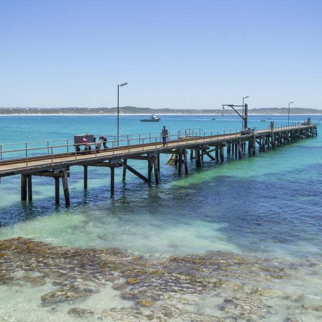 """Vivonne Bay, Kangaroo Island"" stock image"