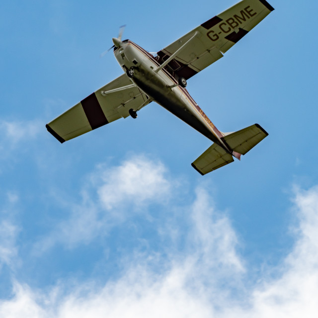 """Low Flying Plane"" stock image"