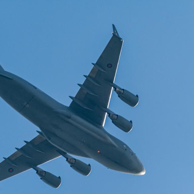 """Transport Plane Low Pass"" stock image"
