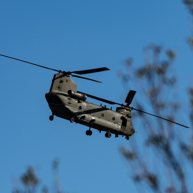 """Chinook Flypast"" stock image"