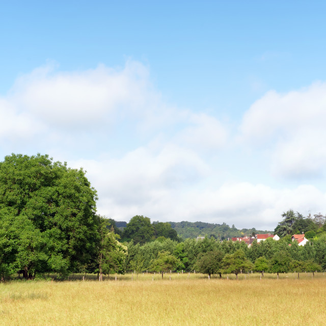 """""""Petit Morin valley in Seine et Marne country"""" stock image"""