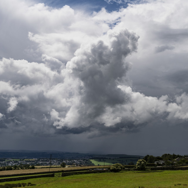 """Storm clouds over Shipley."" stock image"