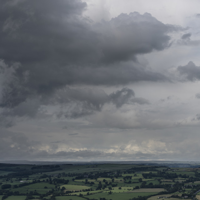"""A storm over Otley."" stock image"
