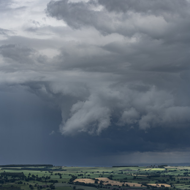 """storm over North Yorkshire."" stock image"