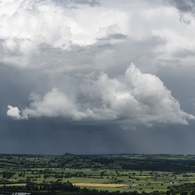 """Thunder clouds over North Yorkshire."" stock image"