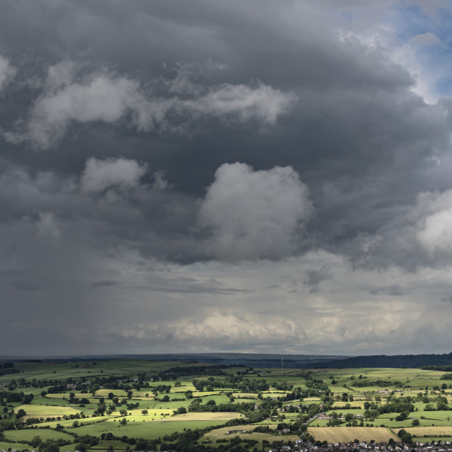 """A storm over Otley"" stock image"