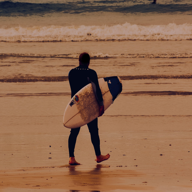 """""""Early morning surf"""" stock image"""
