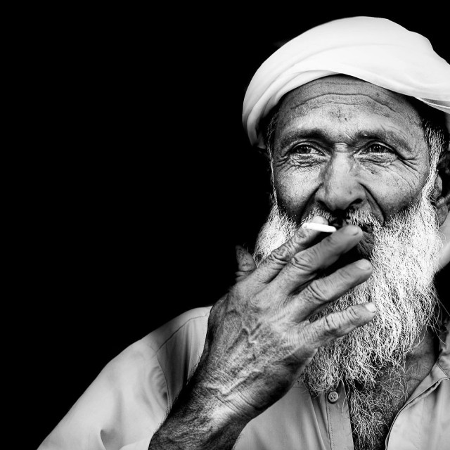 """""""The old man"""" stock image"""