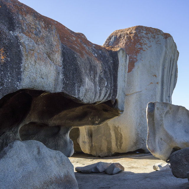 """The Remarkable Rocks, Kangaroo Island"" stock image"