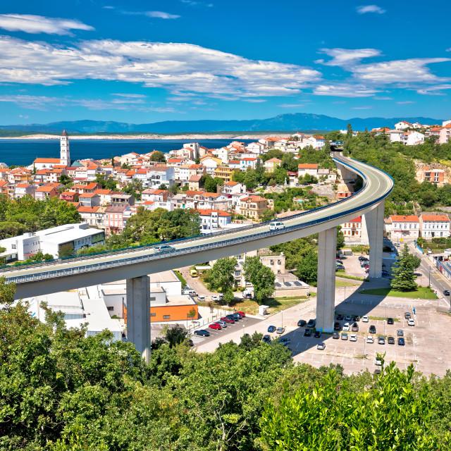 """Town of Crikvenica architecture and coastline view"" stock image"