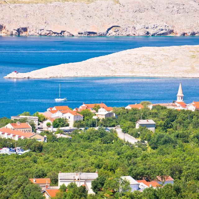 """Jadranovo. Adriatic sea village on Crikvenica riviera and stone desert of Krk..."" stock image"