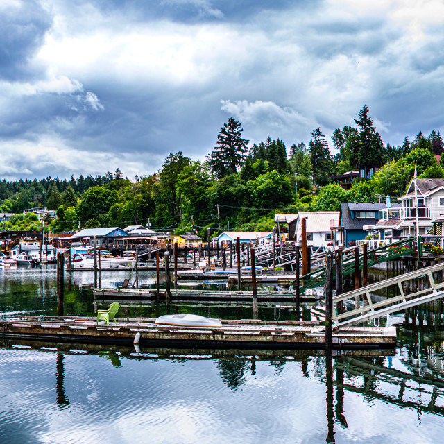 """Cowichan Bay Panorama"" stock image"