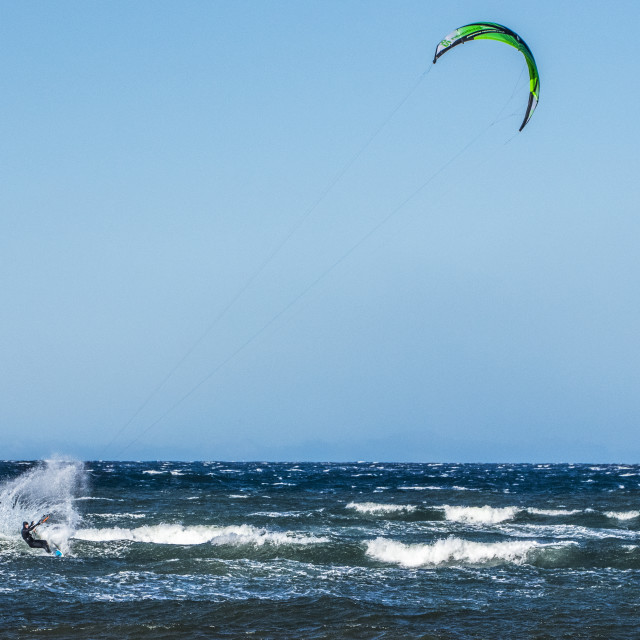 """Kite Surfing"" stock image"