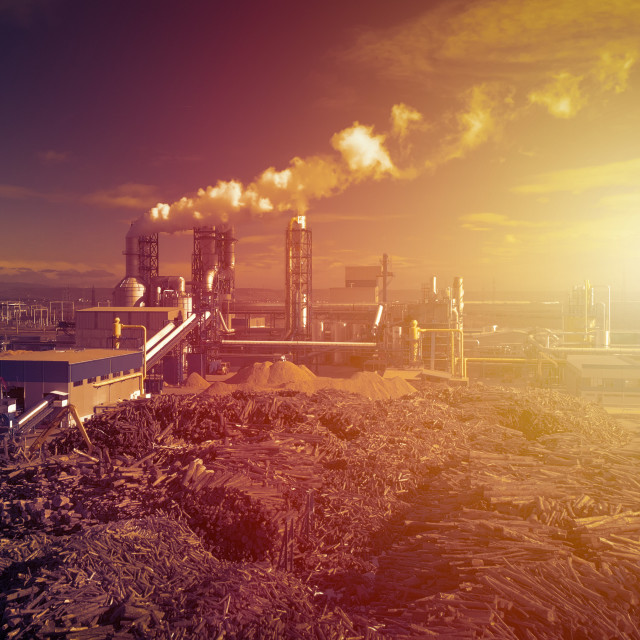 """""""Industrial pollution concept"""" stock image"""