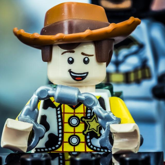 """Dark Knight Lego"" stock image"