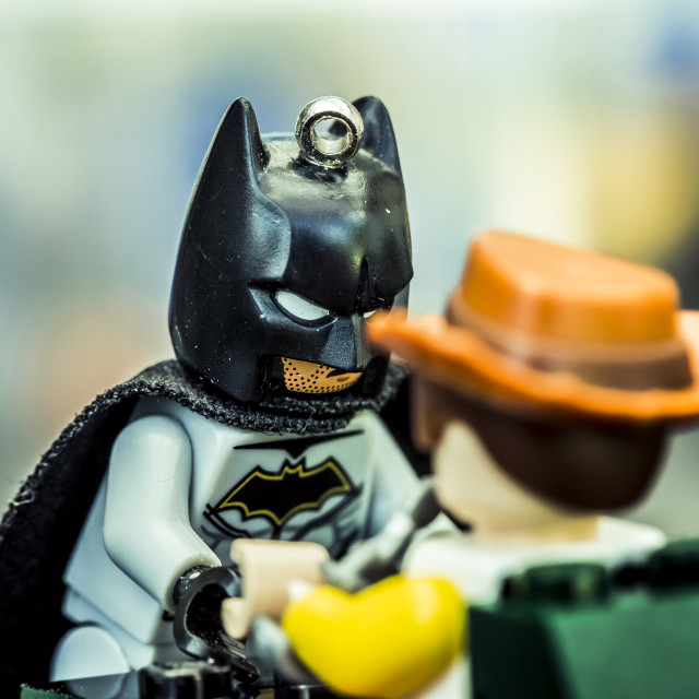 """Dark Knight Lego 5"" stock image"