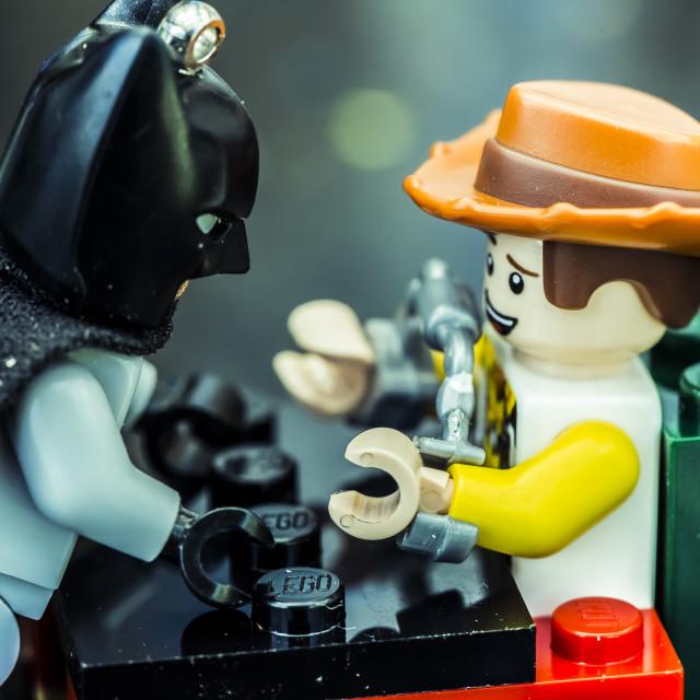 """Dark Knight Lego 6"" stock image"