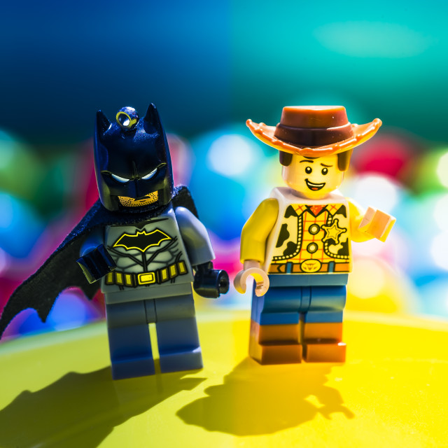 """Batman V Woody"" stock image"