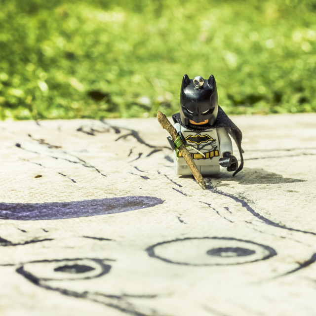 """Arty Batman"" stock image"