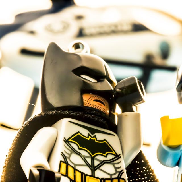 """Batman does Badboys"" stock image"