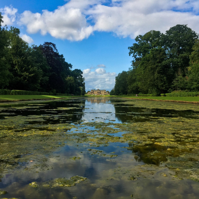 """Wrest Park at a Distance"" stock image"