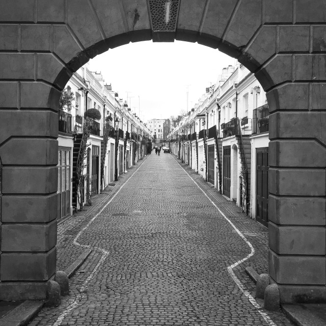"""Holland Park Mews"" stock image"