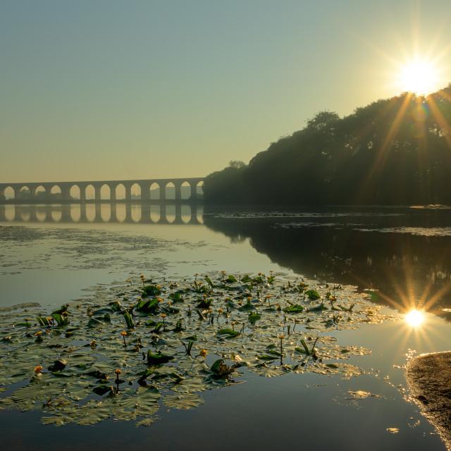 """Sunrise in Cullingworth"" stock image"