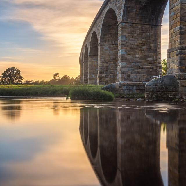 """""""Arthington Viaduct at sunrise"""" stock image"""