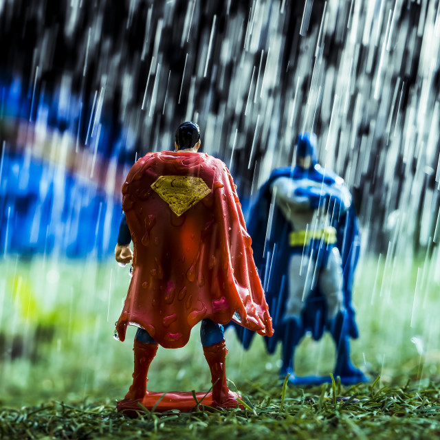 """Superman V Batman"" stock image"