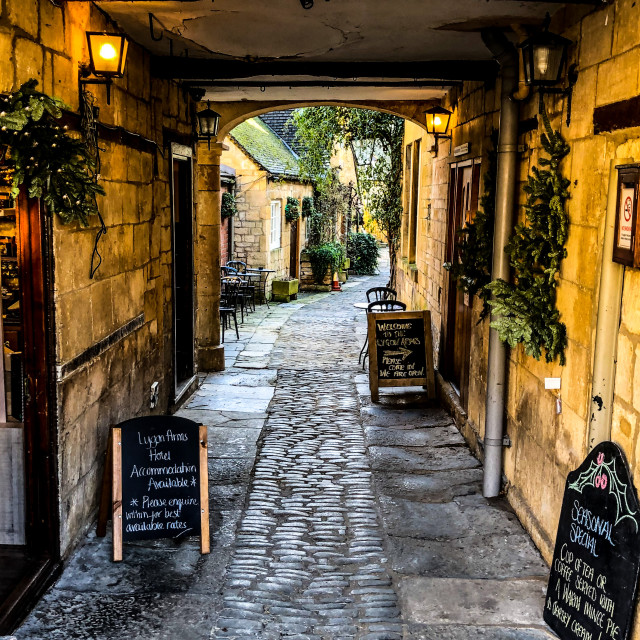 """Chipping Campden Courtyard"" stock image"