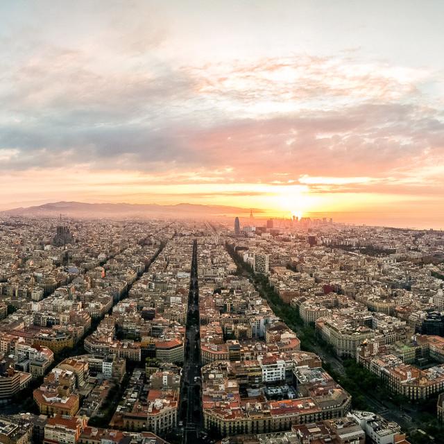 """""""Barcelona pano"""" stock image"""