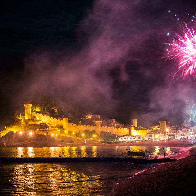 """""""Fireworks in Tossa"""" stock image"""