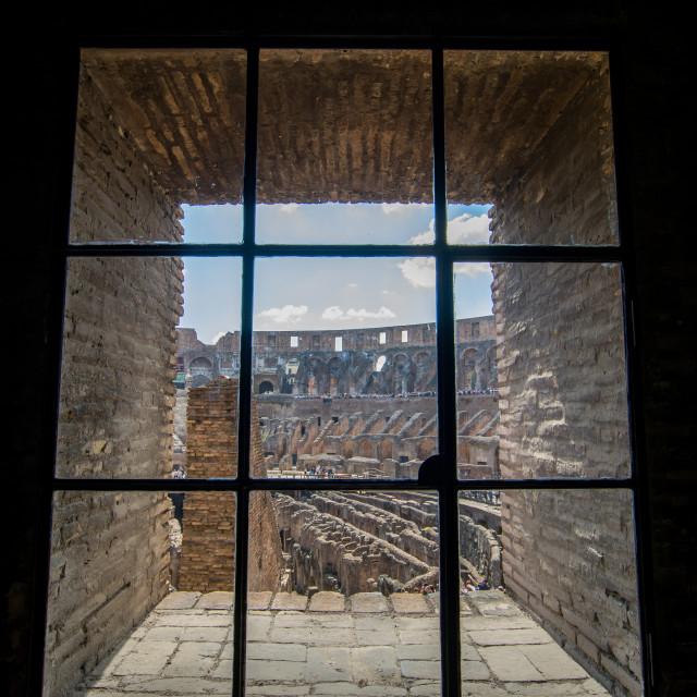 """Window to Rome"" stock image"