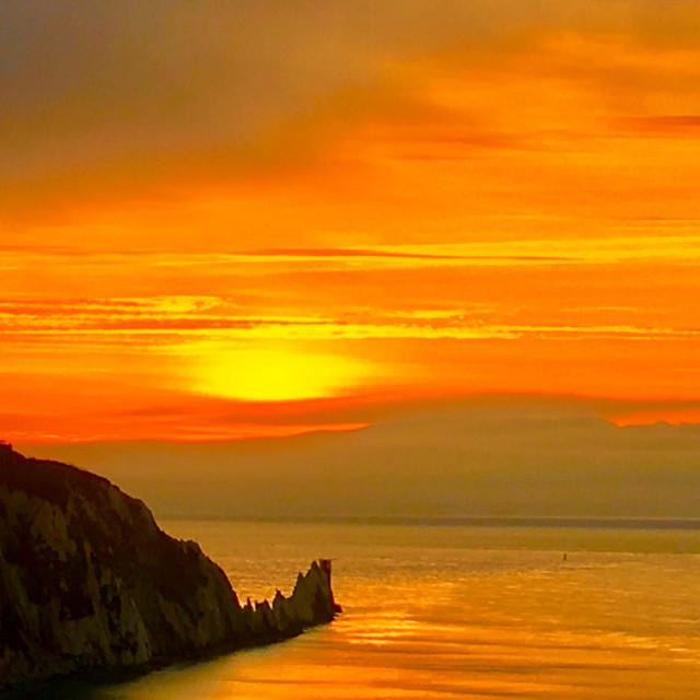"""""""Needles Sunset"""" stock image"""