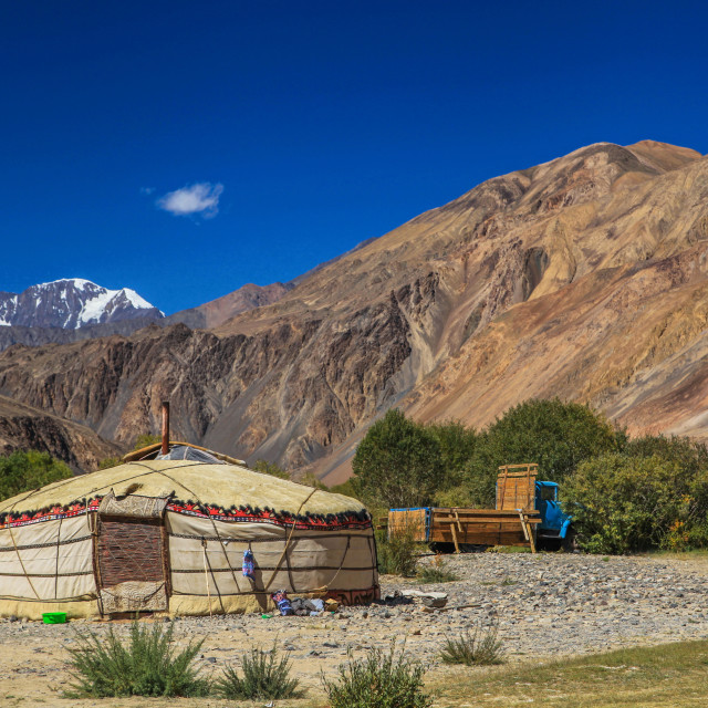 """People living in Pamir highway"" stock image"