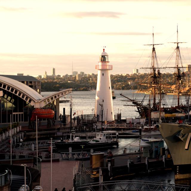 """Darling Harbour Sunset - Sydney"" stock image"