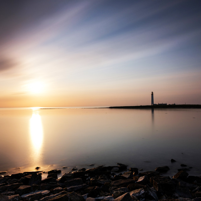 """Barns Ness Sunrise"" stock image"
