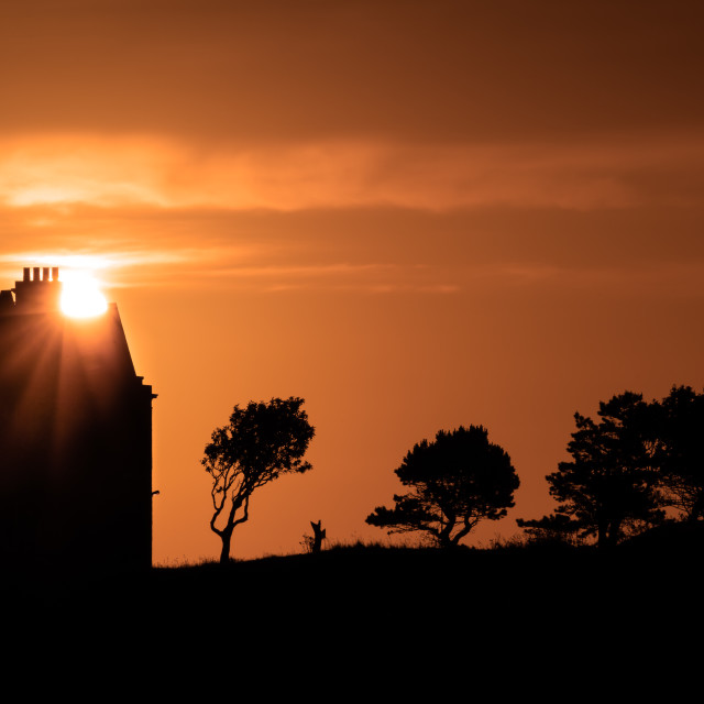 """Sunrise on the Manor"" stock image"